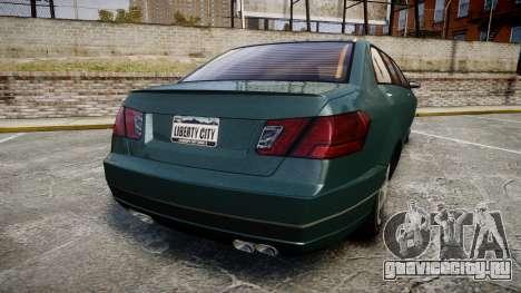 Benefactor Schafter Limousine для GTA 4 вид сзади слева