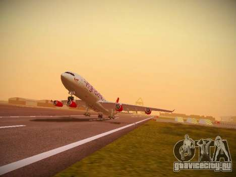 Airbus A340-300 Virgin Atlantic для GTA San Andreas вид слева