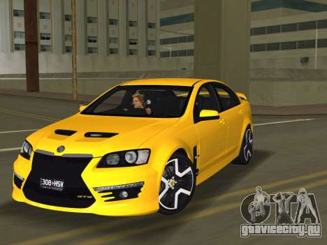 Holden HSV GTS 2011 для GTA Vice City вид сзади