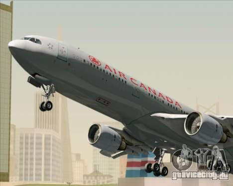 Airbus A330-300 Air Canada для GTA San Andreas вид снизу