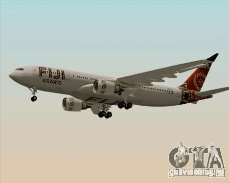 Airbus A330-200 Fiji Airways для GTA San Andreas двигатель