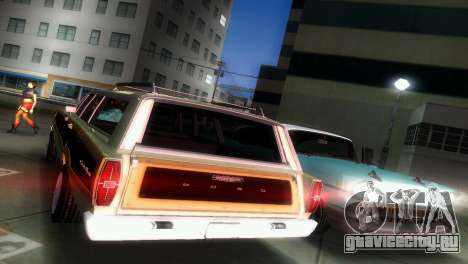 Ford Country Squire для GTA Vice City вид изнутри