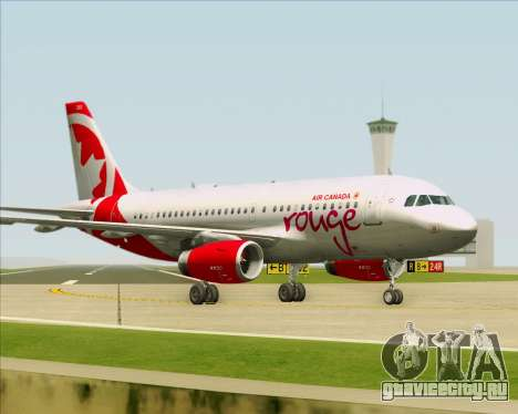 Airbus A319 Air Canada Rouge для GTA San Andreas колёса