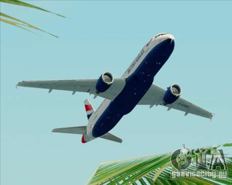 Airbus A320-232 British Airways для GTA San Andreas