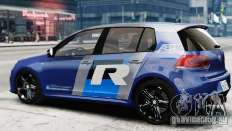 Volkswagen Golf R 2010 ABT Paintjob для GTA 4 вид слева