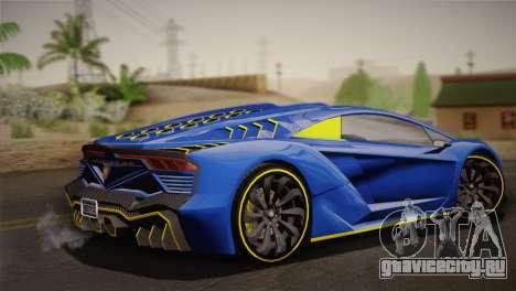 GTA 5 Zentorno для GTA San Andreas вид слева