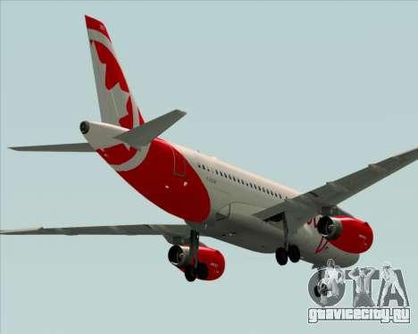Airbus A319 Air Canada Rouge для GTA San Andreas вид справа