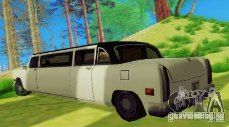 Cabbie Limousine для GTA San Andreas вид справа