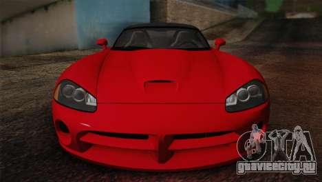 Dodge Viper SRT-10 2003 для GTA San Andreas вид сзади