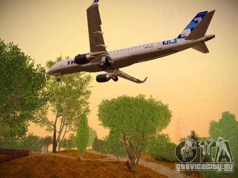 Embraer E190 TRIP Linhas Aereas Brasileira для GTA San Andreas вид снизу
