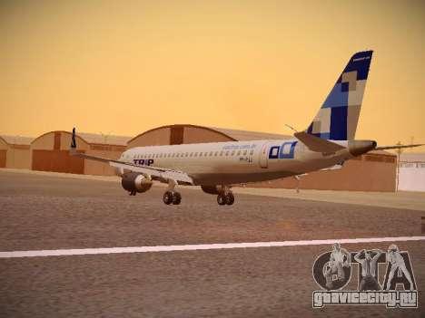 Embraer E190 TRIP Linhas Aereas Brasileira для GTA San Andreas вид сзади слева