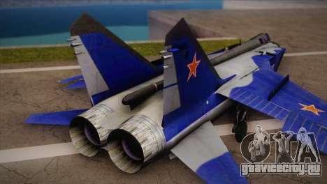 MIG-31 from H.A.W.X. для GTA San Andreas вид слева