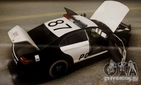 Vapid Police Interceptor from GTA V для GTA San Andreas двигатель