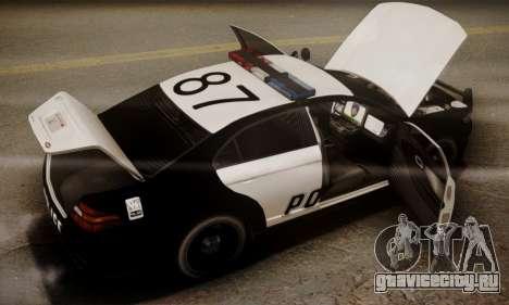 Vapid Police Interceptor from GTA V для GTA San Andreas двигатель