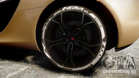 McLaren 650S Spider 2014 [EPM] Yokohama ADVAN v2 для GTA 4 вид сзади
