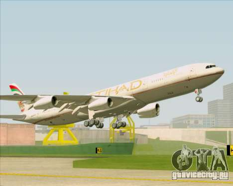 Airbus A340-313 Etihad Airways для GTA San Andreas салон