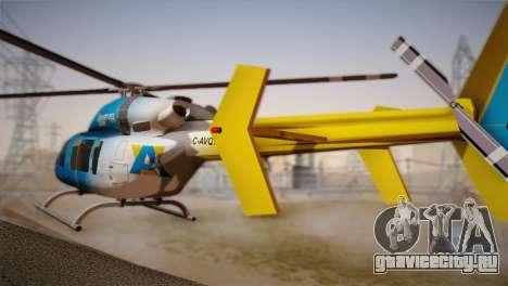 Bell 429 v2 для GTA San Andreas вид слева