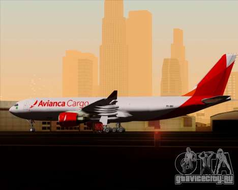 Airbus A330-243F Avianca Cargo для GTA San Andreas салон