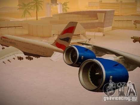 Airbus A380-800 British Airways для GTA San Andreas