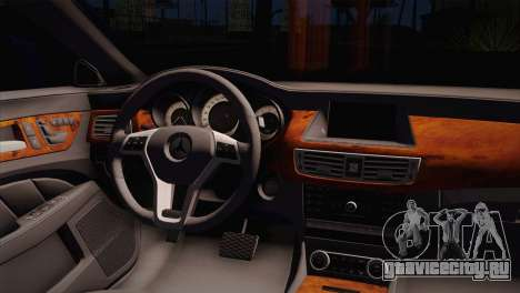 Mercedes-Benz CLS63 AMG для GTA San Andreas вид сзади слева