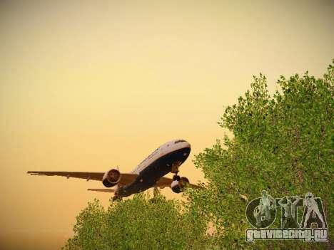 Boeing 777-2Q8ER Orenair Airlines для GTA San Andreas вид изнутри