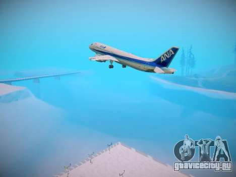 Airbus A320-211 All Nippon Airways для GTA San Andreas колёса