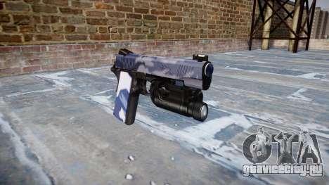 Пистолет Kimber 1911 Blue Tiger для GTA 4