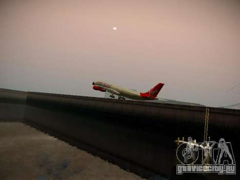 Airbus A340-300 Virgin Atlantic для GTA San Andreas вид сверху