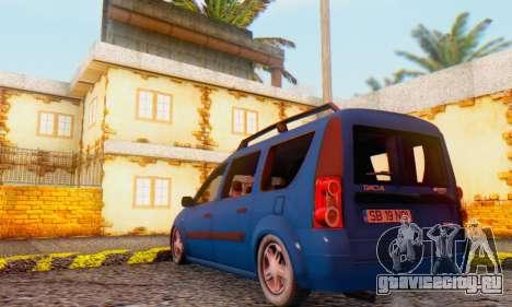 Dacia Logan MCV для GTA San Andreas вид справа