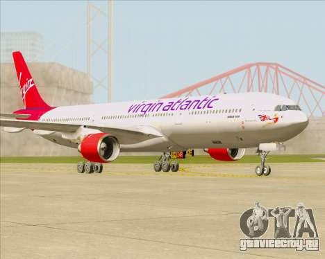 Airbus A330-300 Virgin Atlantic Airways для GTA San Andreas вид слева