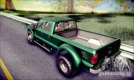 Ford F450 Super Duty 2013 HD для GTA San Andreas вид изнутри