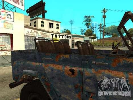 Полицейский УАЗ из S.T.A.L.K.E.R для GTA San Andreas вид сзади