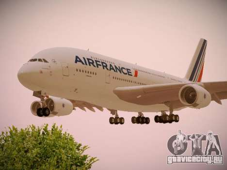 Airbus A380-800 Air France для GTA San Andreas вид сверху