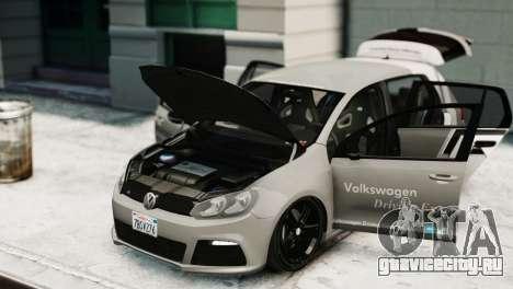 Volkswagen Golf R 2010 Driving Experience для GTA 4 вид справа