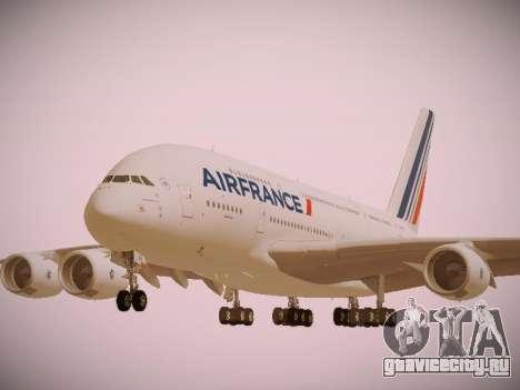 Airbus A380-800 Air France для GTA San Andreas вид сбоку
