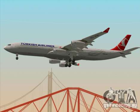Airbus A340-313 Turkish Airlines для GTA San Andreas вид изнутри