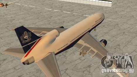 Lockheed L1011 Tristar British Airways для GTA San Andreas вид слева