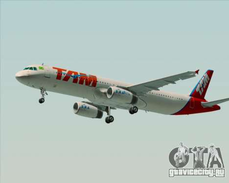 Airbus A321-200 TAM Airlines для GTA San Andreas вид сзади