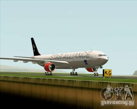 Airbus A330-300 SAS (Star Alliance Livery) для GTA San Andreas