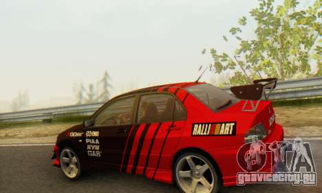 Mitsubishi Lancer Turkis Drift Advan для GTA San Andreas вид справа