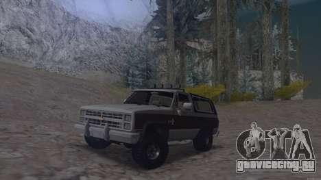 Chevrolet Blazer K5 для GTA San Andreas вид сзади слева