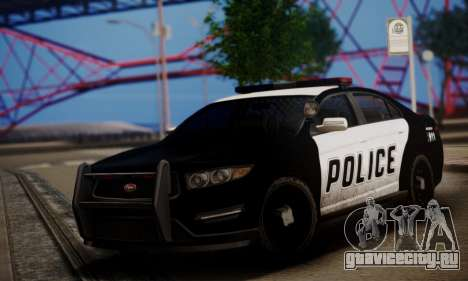 Vapid Police Interceptor from GTA V для GTA San Andreas вид слева
