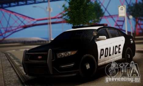 Vapid Police Interceptor from GTA V для GTA San Andreas вид слева