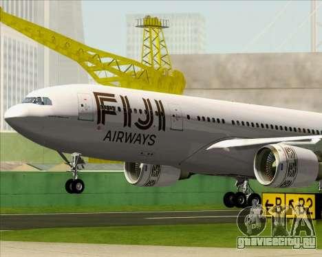 Airbus A330-200 Fiji Airways для GTA San Andreas салон