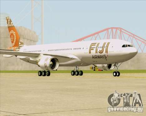 Airbus A330-200 Fiji Airways для GTA San Andreas вид сзади слева