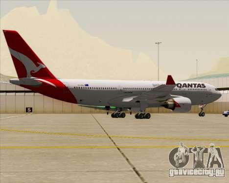 Airbus A330-200 Qantas для GTA San Andreas вид сзади