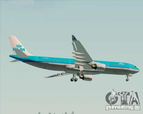 Airbus A330-300 KLM Royal Dutch Airlines для GTA San Andreas колёса