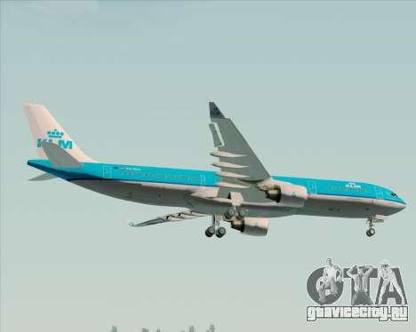 Airbus A330-300 KLM Royal Dutch Airlines для GTA San Andreas колёса