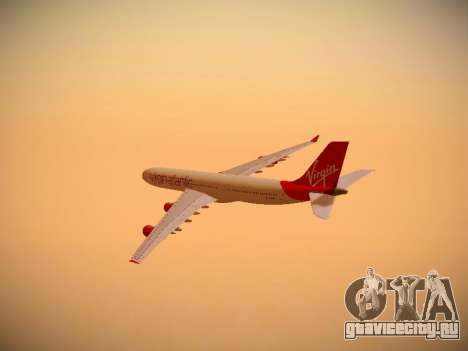 Airbus A340-300 Virgin Atlantic для GTA San Andreas вид сбоку