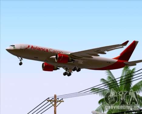 Airbus A330-243F Avianca Cargo для GTA San Andreas двигатель